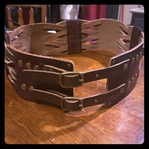 Anthropologie Lucky Penny woven belt